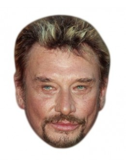 Masque carton Johnny Hallyday