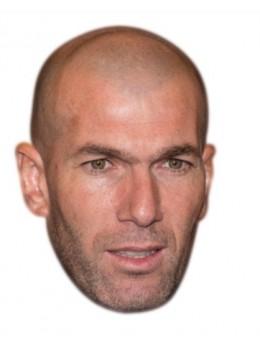 Masque carton Zinédine Zidane