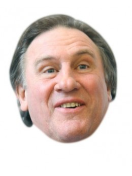 Masque carton Gérard Depardieu