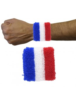 Paire de poignet de supporter tricolore France