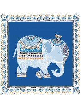 20 serviettes éléphant bleu
