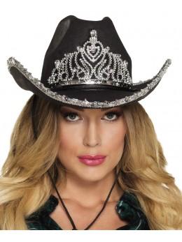 Chapeau Cowgirl princesse noir