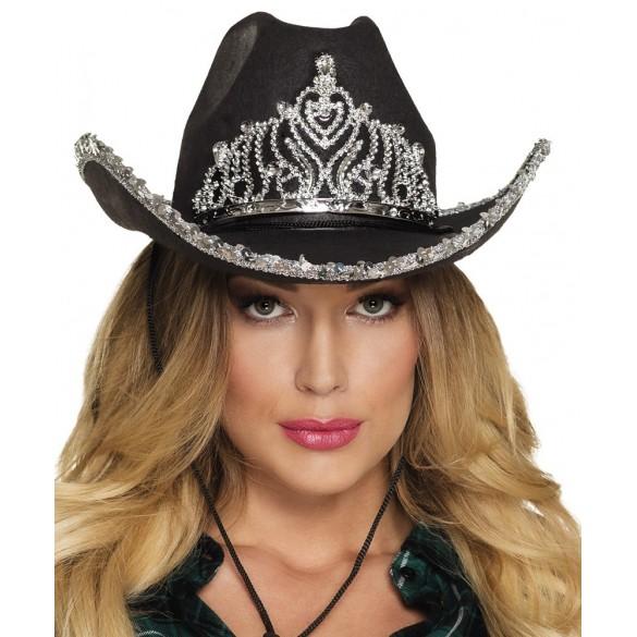 Chapeau cowgirl princesse noir   Accessoires western a5b51250ce82