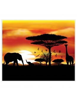 Déco cadre plastique safari