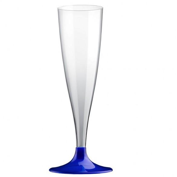 10 Easy flutes champagne pieds bleu perlé