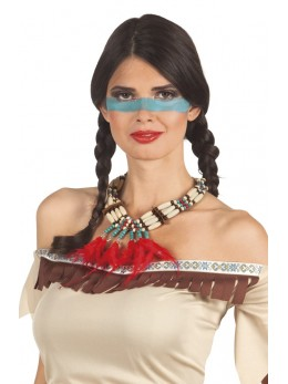 Collier indien perles et plumes
