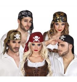 Lot de 5 chapeaux de pirate