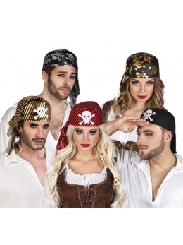 Lot de 5 chapeaux de pirate