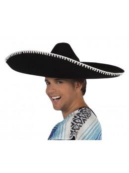chapeau mexicain feutre noir