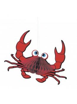 Déco papier crabe 18cm