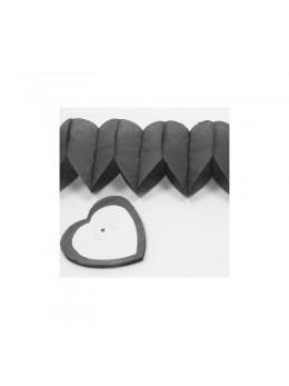 Guirlande coeur gris