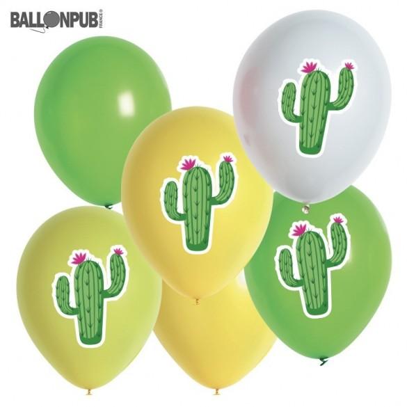 6 ballons cactus