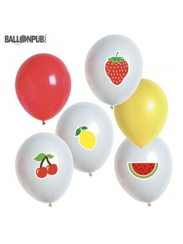 6 ballons fruits