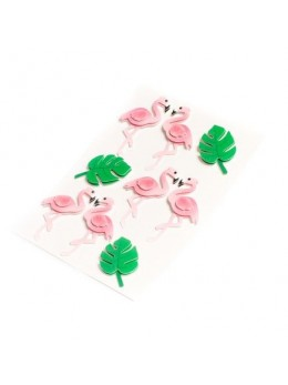 9 Stickers cactus et flamants