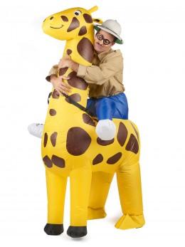 Déguisement de girafe gonflable