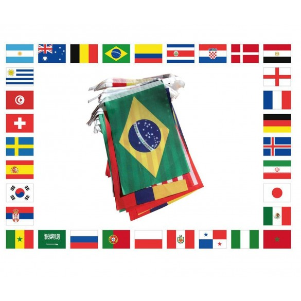 Guirlande plastique 32 pays du monde