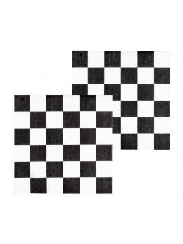 12 serviettes Racing damier