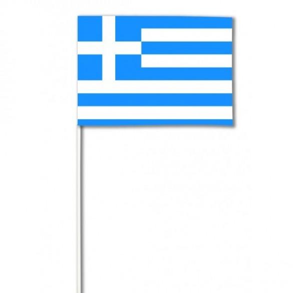10 Drapeaux papier Grèce