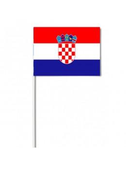 10 Drapeaux papier Croatie