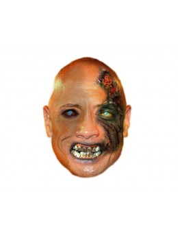 Masque carton Dwayne Johnson zombie