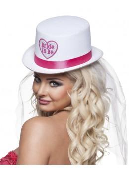 Chapeau haut de forme Bride to Be