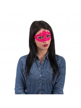 MASQUE LOUP NEON ROSE