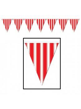 Guirlande Fanion rouge rayures