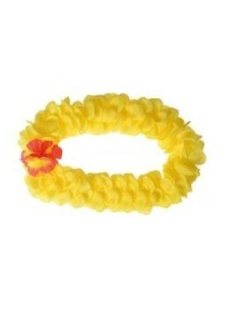Set Hawaïen fleurs géantes jaunes