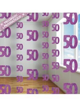 Rideau de porte 50 ans rose