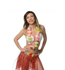 Collier hawai multicolore éco