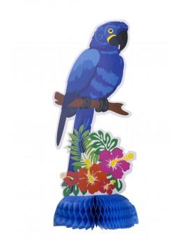 Centre de table perroquet bleu