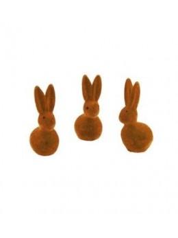 Lot de 4 lapins bruns 5cm