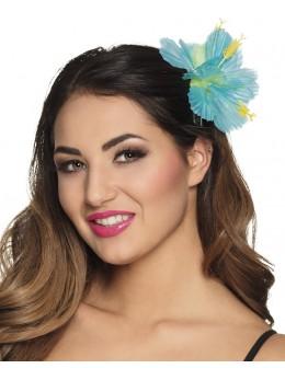 Barette Fleur hawai bleu