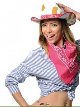 Chapeau cowboy fantaisie rose