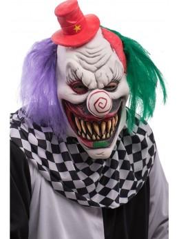 Masque de clown maléfique latex