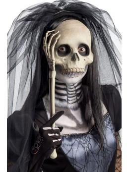 Masque de squelette face à main