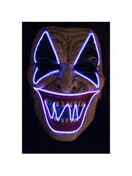 Masque de clown méchant lumineux