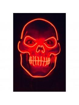 Masque de squelette méchant lumineux