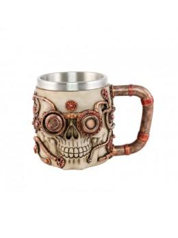 Mug crâne steampunk