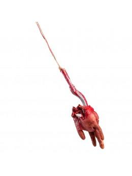 Main coupée sur crochet