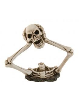 Déco squelette tête dans les mains