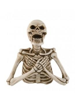 Déco buste de squelette résine