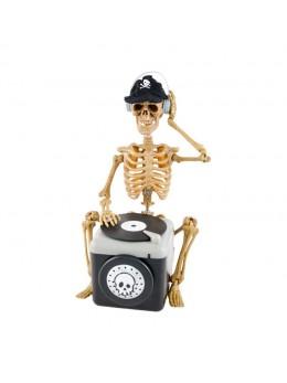 Déco squelette DJ sonore et mouvement