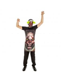 Tablier et masque de clown psycho