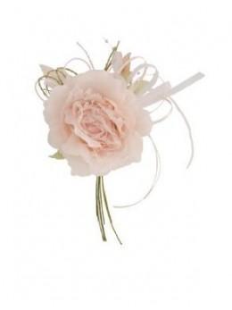 Décoration fleur dentelle taupe 20cm