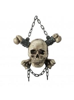 Suspension crâne avec chaînes
