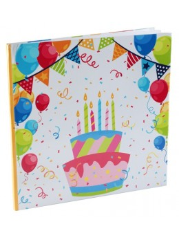Livre d'or anniversaire multicolore