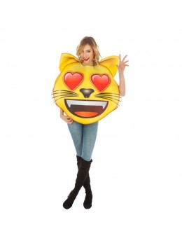 Déguisement emoji chat coeur