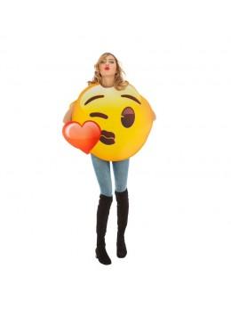 Déguisement emoji bisou coeur