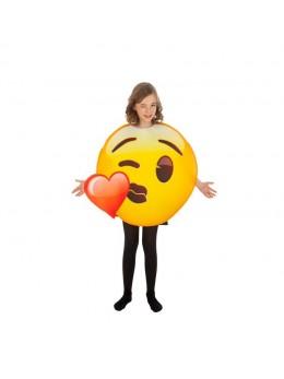 Déguisement  emoji bisou coeur enfant